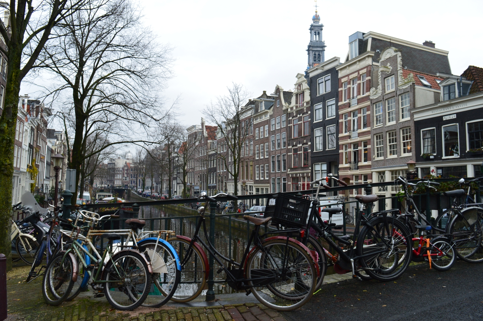 canals and bikes in Amsterdam
