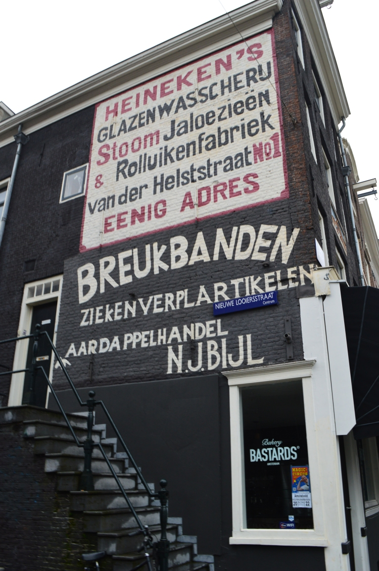 brick building of a dutch shop in Amsterdam