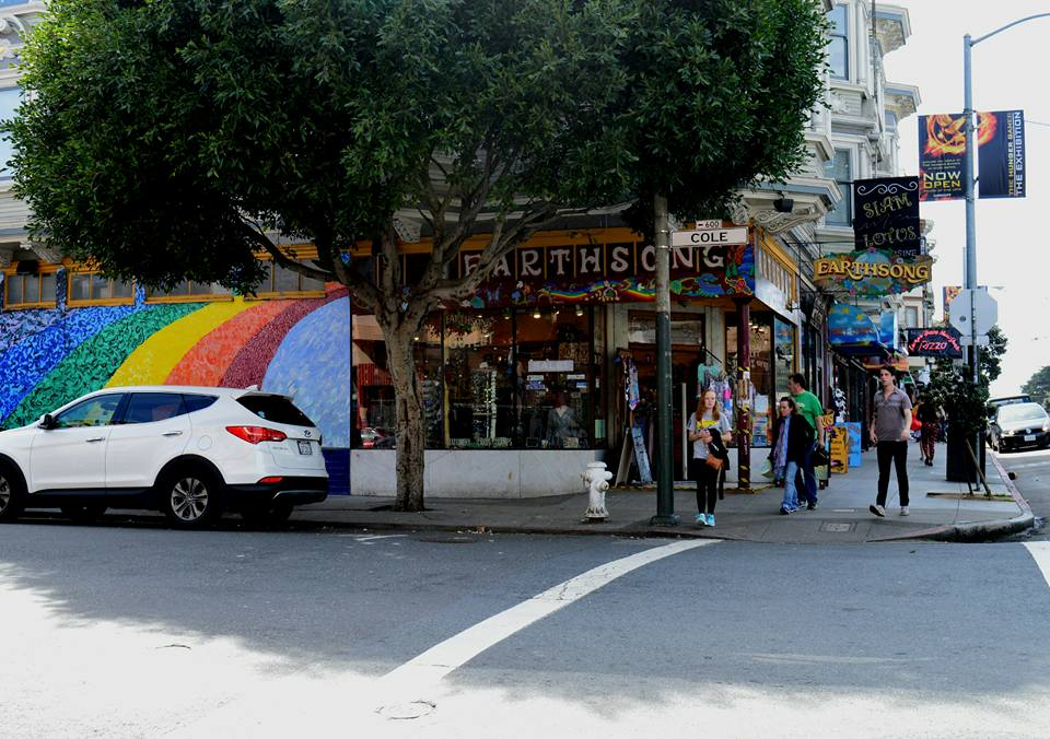 gay pride rainbow street art in San Francisco