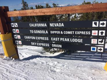 directions at heavenly ski resort in Lake Tahoe