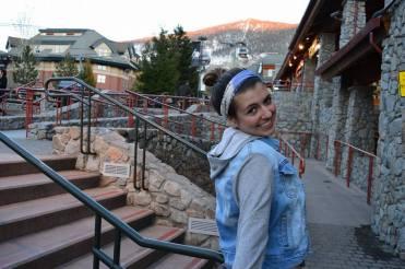 girl smiling at Lake Tahoe ski resort