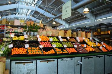 fresh fruits and vegetables at Oxbow Market in Napa Valley California